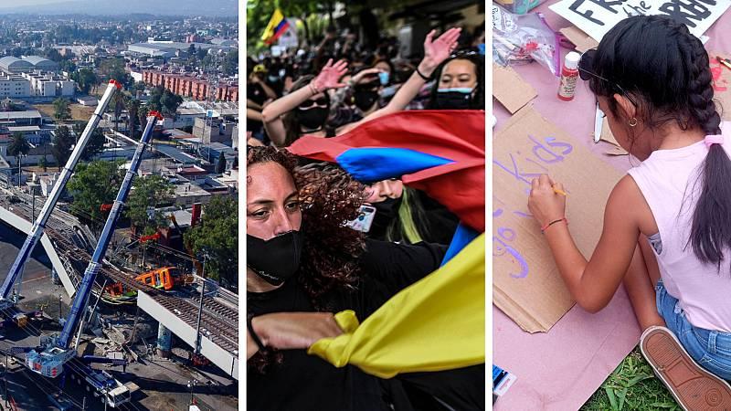 Cinco continentes - Accidente en el metro de Ciudad de México - Escuchar ahora