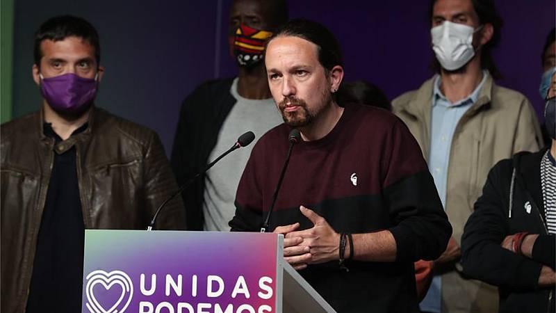 """Especiales informativos RNE - Iglesias deja la política tras las elecciones en Madrid: """"Ya no soy útil"""" - Escuchar ahora"""