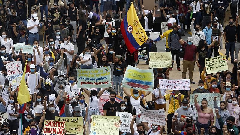 Enfoque Global en REE - Colombia paralizada por las protestas - 08/05/21 - escuchar ahora