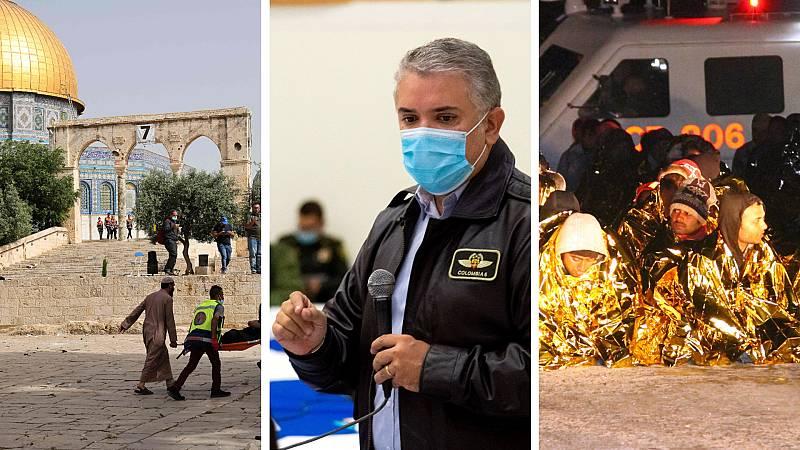 Cinco continentes - Máxima tensión en el Dia de Jerusalén - Escuchar ahora