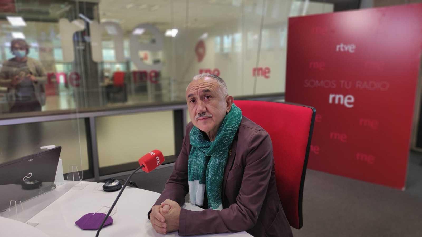 """Las mañanas de RNE con Íñigo Alfonso - Pepe Álvarez: """"Esperamos un gesto de Pedro Sánchez en relación con el diálogo social"""" - Escuchar ahora"""