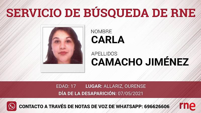 Servicio de búsqueda - Carla Camacho Jiménez, desaparecida en Allariz, Ourense - Escuchar ahora