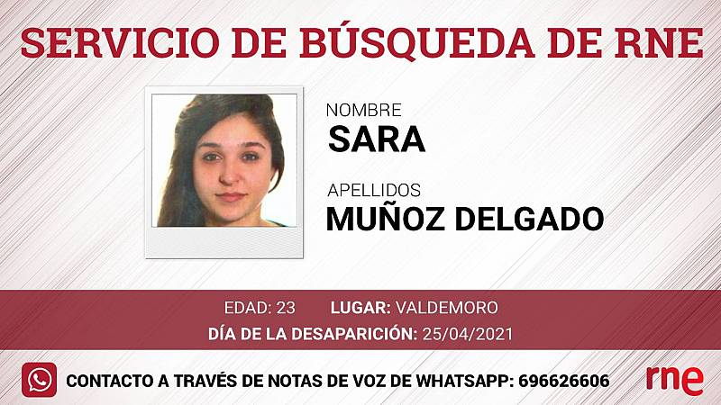 Servicio de búsqueda - Sara Muñoz Delgado, desaparecida en Valdemoro - Escuchar ahora