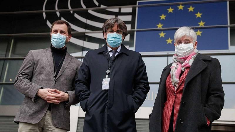 Edició Vespre - Puigdemont, Comín i Ponsatí, recuperen provisionalment la immunitat