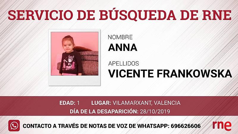Servicio de búsqueda - Anna Vicente Frankowska, desaparecida en Vilamarxant, Valencia  - Escuchar ahora