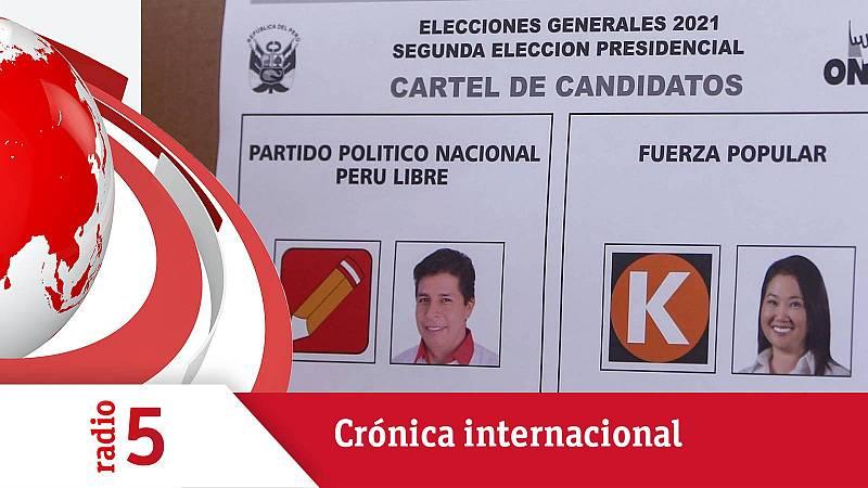 Crónica Internacional - Keiko Fujimori lidera un ajustado recuento en Perú - Escuchar ahora