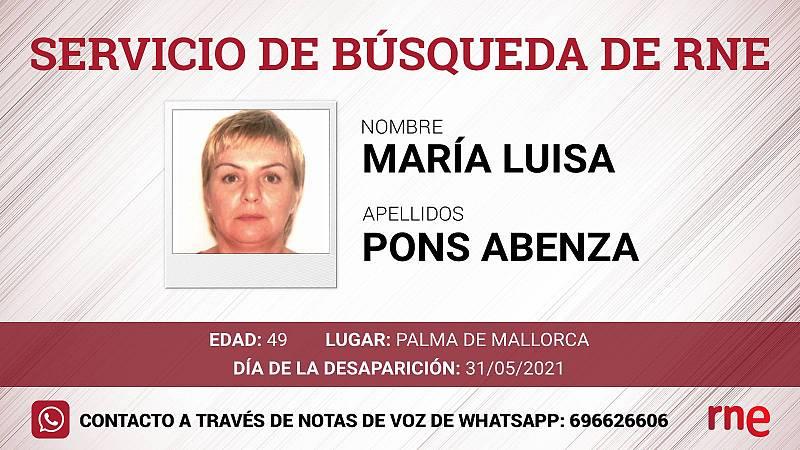 Servicio de búsqueda - María Luisa Pons Abenza, desaparecida en Palma de Mallorca - Escuchar ahora