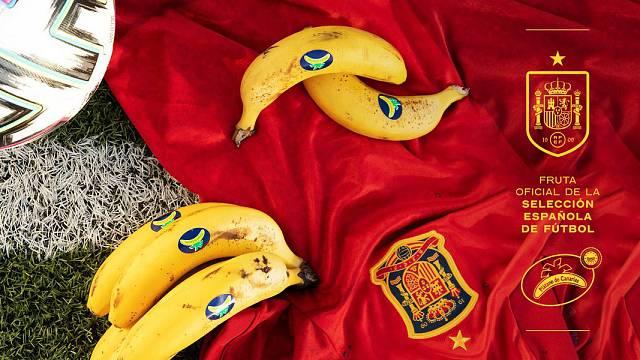 Plátano de Canarias, fruta oficial de la Selección Española