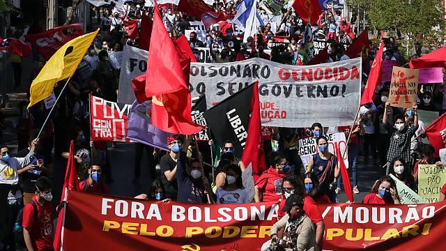 Protestas en Brasil contra el presidente Bolsonaro