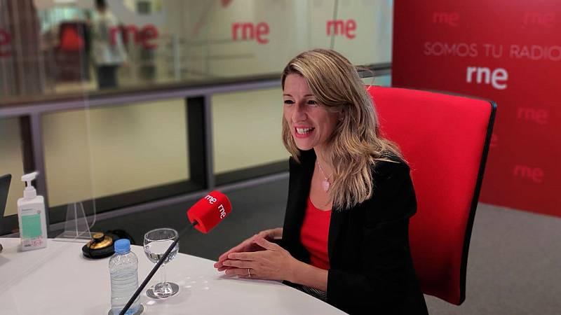 """Las mañanas de RNE con Íñigo Alfonso - Yolanda Díaz, sobre el SMI: """"Debemos tener la misma valentía que tuvimos con los indultos"""" - Escuchar ahora"""