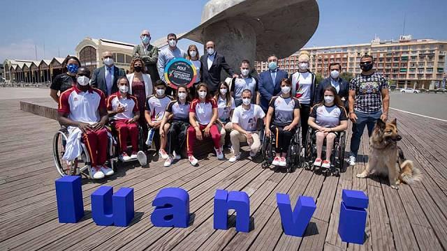 El vestuario del Equipo Paralímpico Español en Tokio