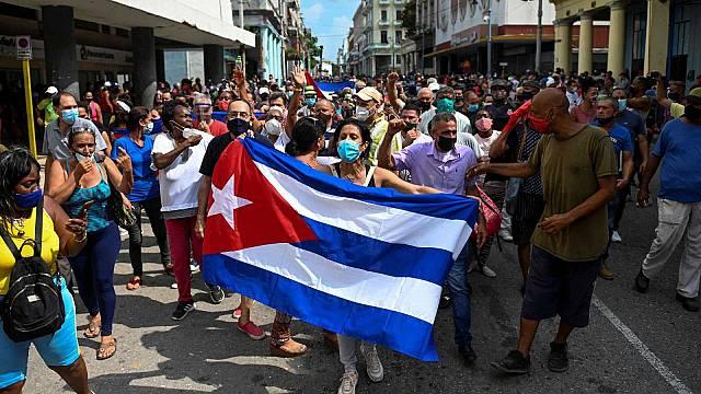 Protestas por la situación en cuba