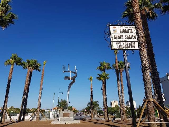 Monumento homenaje víctimas del Holocausto en Torremolinos
