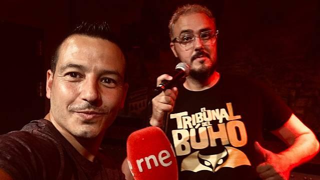 ¿Algún cómico en La sala? Diego Arjona con Jorge Gª Palomo