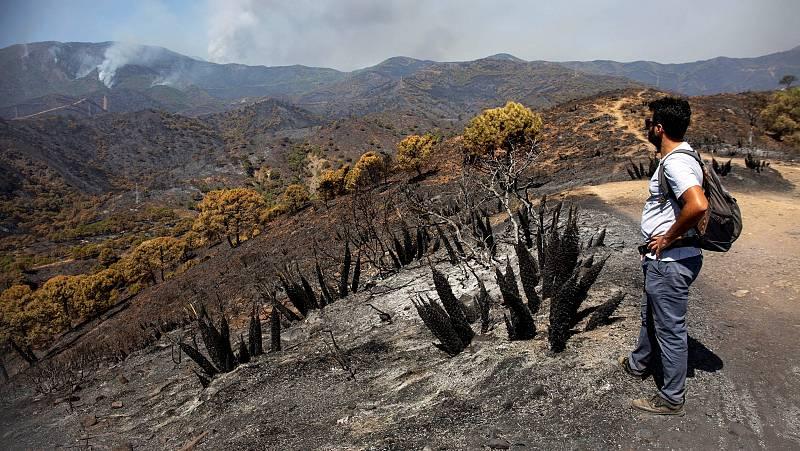 """Las mañanas de RNE con Íñigo Alfonso - Bomberos: """"Esperamos estabilizar el incendio en uno o dos días"""" - Escuchar ahora"""