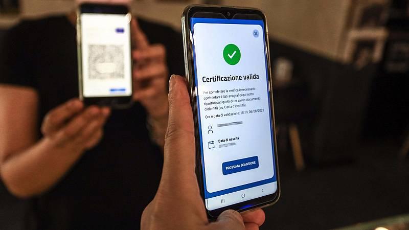24 horas - Italia exigirá el certificado covid a todos los trabajadores - Escuchar ahora