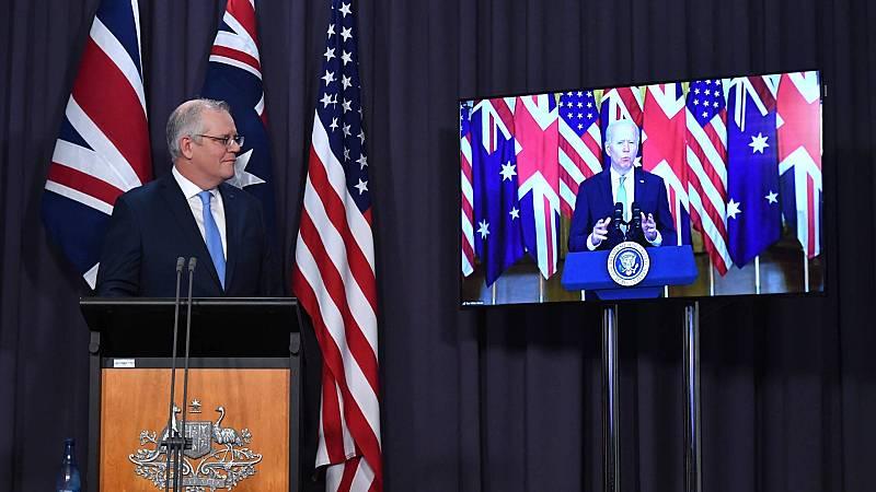 Cinco Continentes - AUKUS: Estados Unidos, Reino Unido y Australia buscan frenar el poderío militar de China. - Escuchar ahora