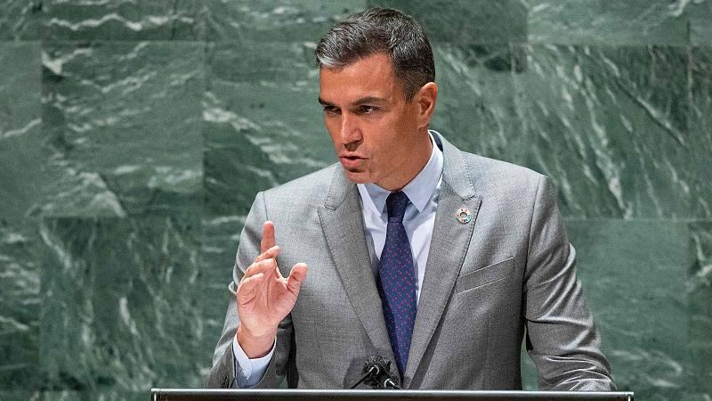 """Las mañanas de RNE con Íñigo Alfonso - Sánchez apuesta en la ONU por el multilateralismo para proteger """"una democracia amenazada por los extremismos"""" - Escuchar ahora"""