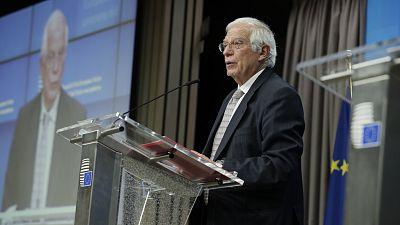 """14 horas Fin de Semana - Borrell confía en la buena relación entre Europa y EEUU: """"Esperamos que se puedan superar los momentos de desencuentro"""" - Escuchar ahora"""