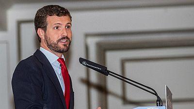 Boletines RNE - Casado comunica a Sánchez que votará no en la investidura - Escuchar ahora