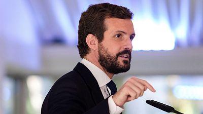 Boletines RNE - Casado considera que Sánchez ha rechazado el diálogo y lo acusa de soberbia - Escuchar ahora