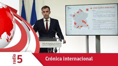 Crónica Internacional - Francia endurece las medidas restrictivas por el coronavirus - Escuchar ahora