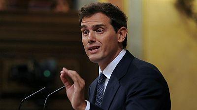 """14 horas - Rivera califica de """"tomadura de pelo"""" la respuesta de Sánchez a su oferta y mantiene el 'no' a la investidura - Escuchar ahora"""