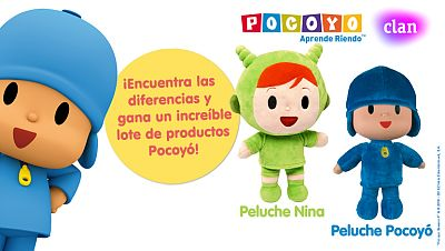 Concurso ¡Encuentra las diferencias y gana tus peluches Pocoyó y Nina!