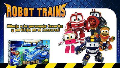 Concurso ¡Envía tu dibujo de Robot Trains y consigue la fantástica estación de Kay!
