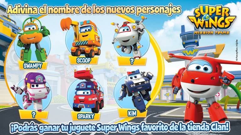Concurso ¡Conoce a los nuevos personajes Super Wings!