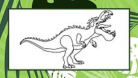 Colorea a Gigantosaurus