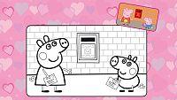Peppa y George felicitan por San Valentín