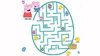 Peppa y el laberinto de los huevos de Pascua