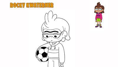 Colorea a Rocky Kwaterner futbolista