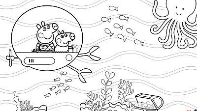 Colorea al submarino de Peppa