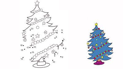 Completa el árbol de navidad de Simón