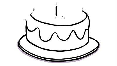Completa y colorea el pastel de Simón para su mamá