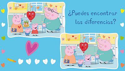 Peppa y el juego de diferencias de San Valentín