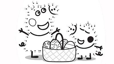 Termina el dibujo de los huevos de pascua de Peppa