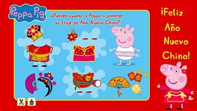 El traje de Peppa para el Año Nuevo Chino