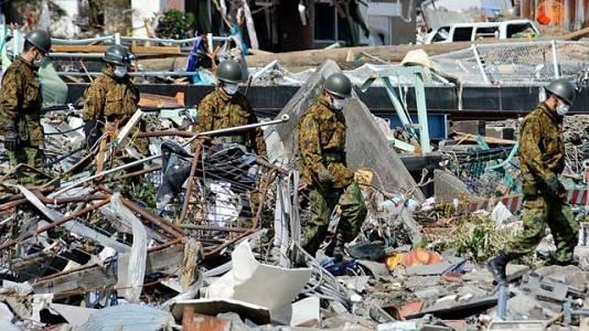 Momentos después del terremoto