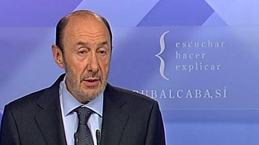 "Rubalcaba: ""ETA no es protagonista"""