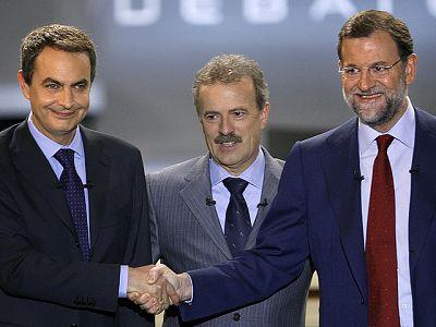 Primer debate Zapatero-Rajoy 2008