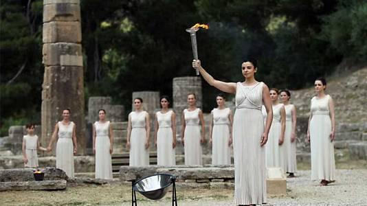 Encendido de la antorcha olímpica