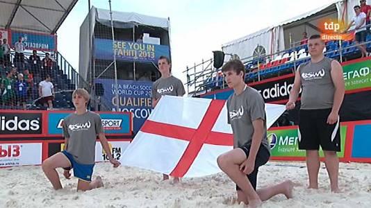 Fútbol playa - Torneo de clasificación de la Copa del Mundo 2013 - Azerbaiyán-Inglaterra