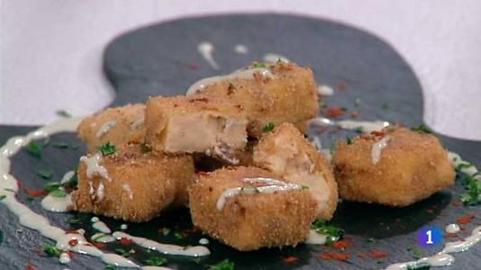 Croquetas de chorizo con queso