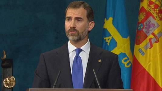 Discurso del Príncipe Felipe en la ceremonia de los Premios Príncipe de Asturias
