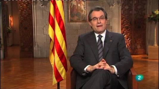 Missatge de cap d'any, Artur Mas