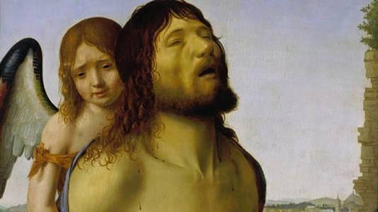 Cristo sostenido por un ángel