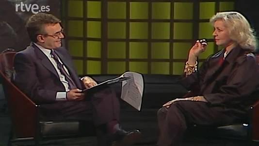Con Lauren Bacall y Miguel Bosé